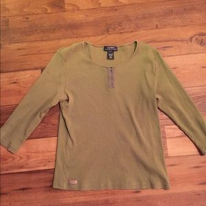 Vintage Olive Green Ralph Lauren Long Sleeve Shirt